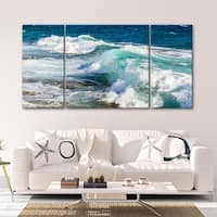 Sea Glass Shore 3 PC 30 x 60 Triptych Wall Art by Norman Wyatt Home - 30 x 60