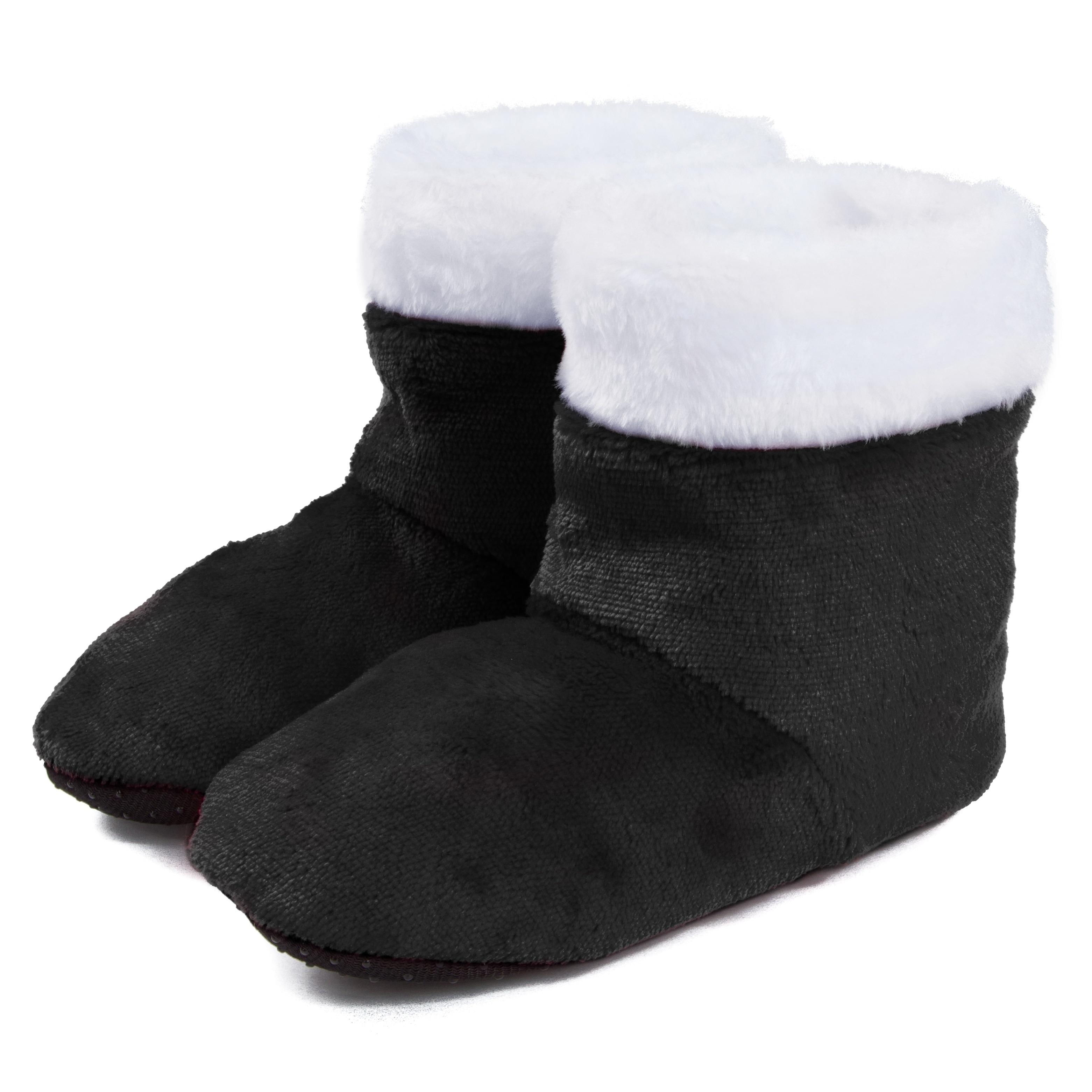 Leisureland Kids Fuzzy Bootie Slippers