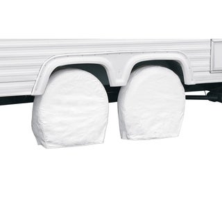 "Classic Accessories 76250 RV Wheel Covers, Snow White Fits wheel diameter 29"" - 31.75"""