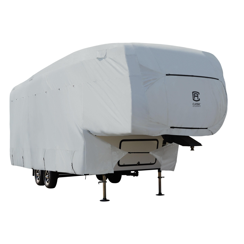 Deluxe Travel Camper Trailer RV Cover Fits 29/' 30/' L w// Zipper Door Access