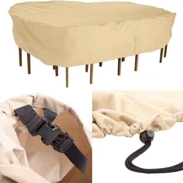 Shop Patio Table Chair Set Cover Water Resistant Outdoor Furniture Cover Overstock 19402362