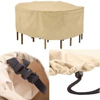 Round Patio Table & Chairs Cover Durable Furniture Cover R94
