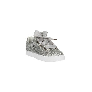 Xehar Womens Sparkling Glitter Wedge Platform Fashion Sneakers
