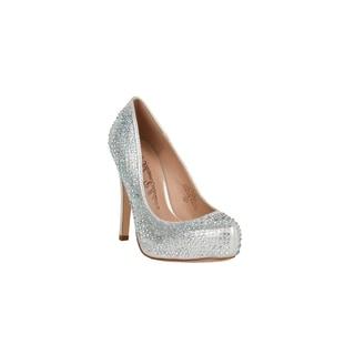 Xehar Womens Glitter Rhinestone Stiletto Dress Pump Heels
