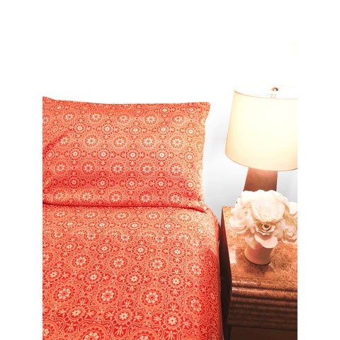 Decorative Voyagers Byzantine Collection Coral Floral Sheet Set