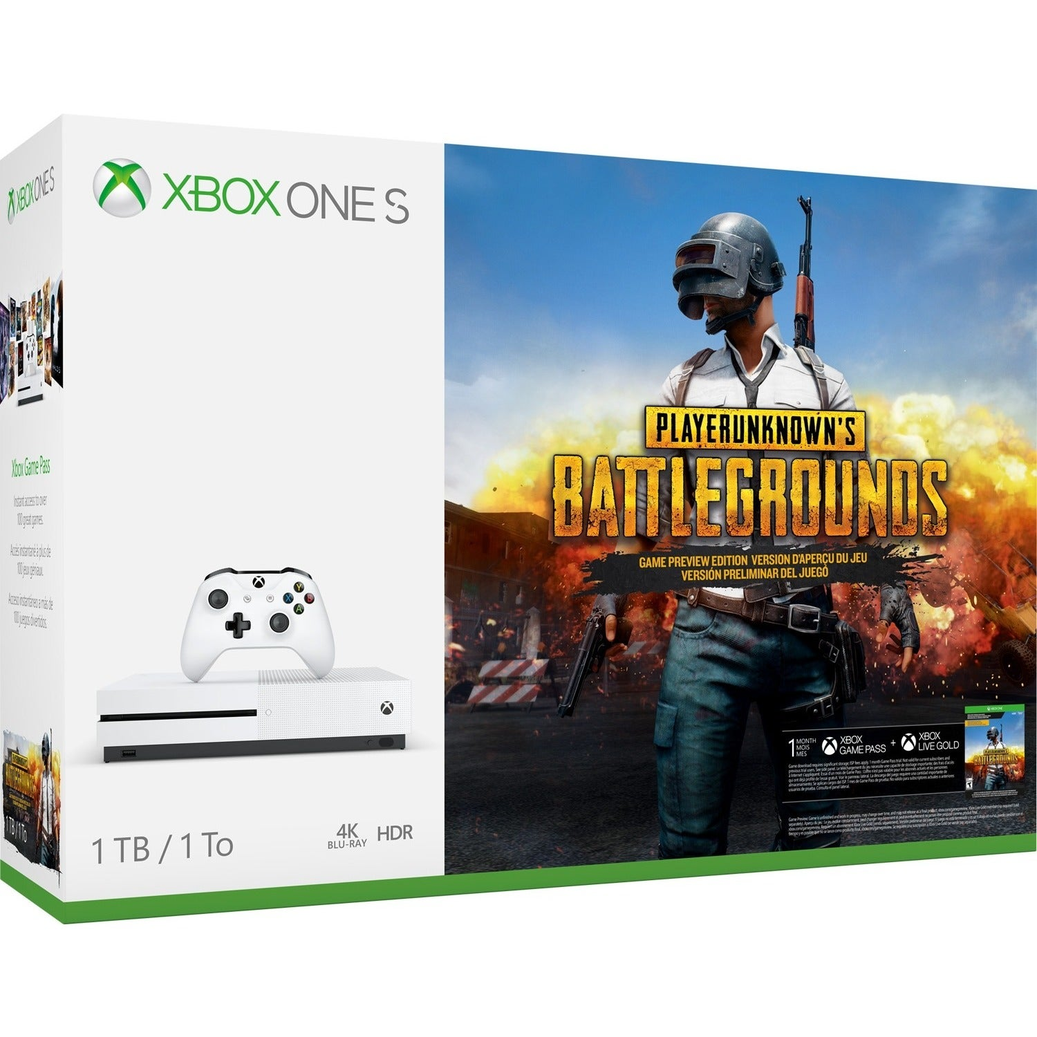 Microsoft Xbox One S PLAYERUNKNOWNS BATTLEGROUNDS Bundle 1TB As Is Item