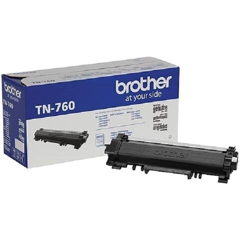 Brother Genuine TN-760 High Yield Toner Cartridge - Black