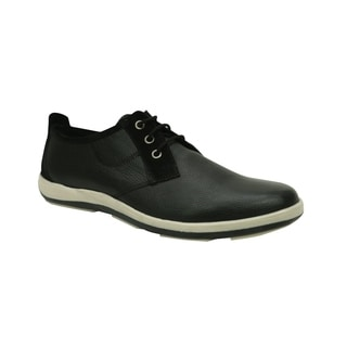 Andrew Fezza AF-L9604 MIKE Oxford Leather Shoes with Suede Trim
