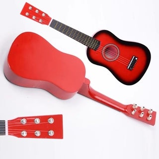 New Beginner Kids 6 Strings Acoustic Toy Guitar 23 Inch Red
