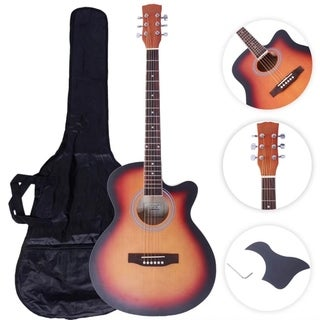 "Glarry GT502 41"" Practice Beginner Spruce Folk Acoustic Guitar Sunset"