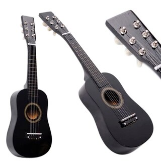 New Beginner Kids 6 Strings Acoustic Toy Guitar 23 Inch Black