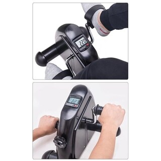 Exerciser Cycling Fitness Mini Pedal Exercise Bike Indoor LCD Display