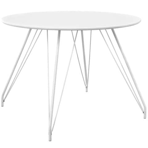 Satellite Circular Dining Table - White