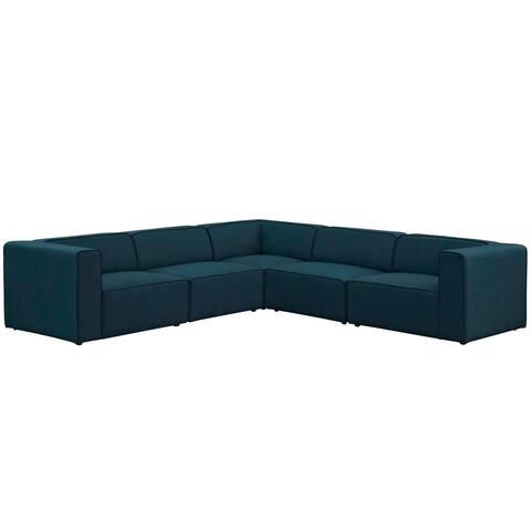 Mingle 5-piece Upholstered Fabric Sectional Sofa Set