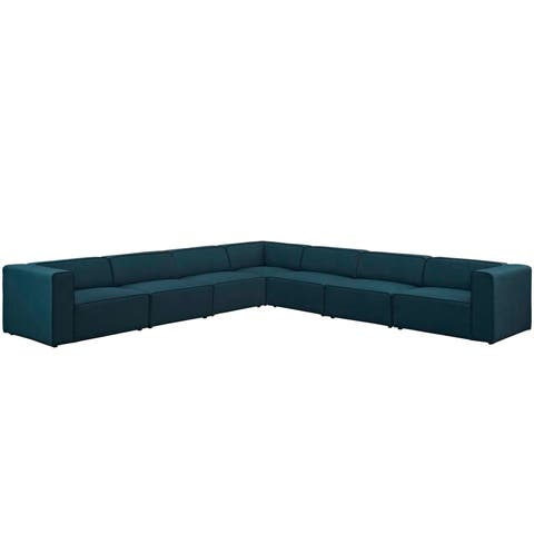 Mingle 7 Piece Upholstered Fabric Sectional Sofa Set