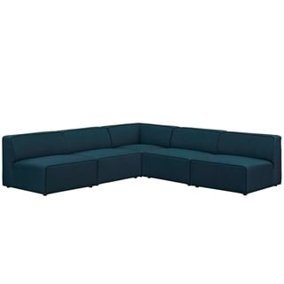 Mingle 5 Piece Upholstered Fabric Sectional Sofa Set