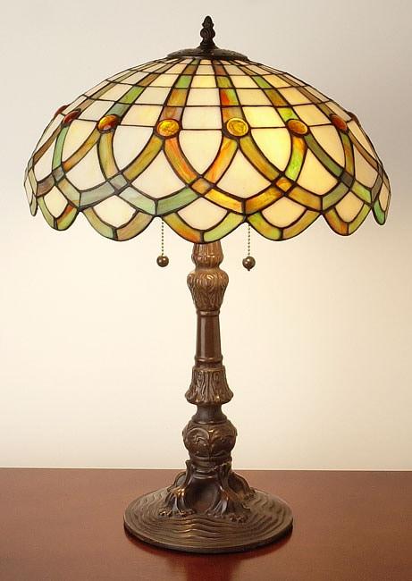 Shop Tiffany Style Ribbon Table Lamp Free Shipping Today