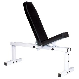 YORK Pro Series Bench 305 FI White Front Adjustable and Back Adjustable