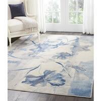 Nourison Somerset Ivory/Blue Area Rug