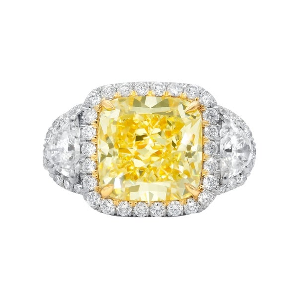 Shop Platinum And Yellow Gold Ring With Main 5.15 Carat