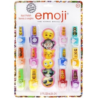 Emoji 12 Pack Nail Polish with File