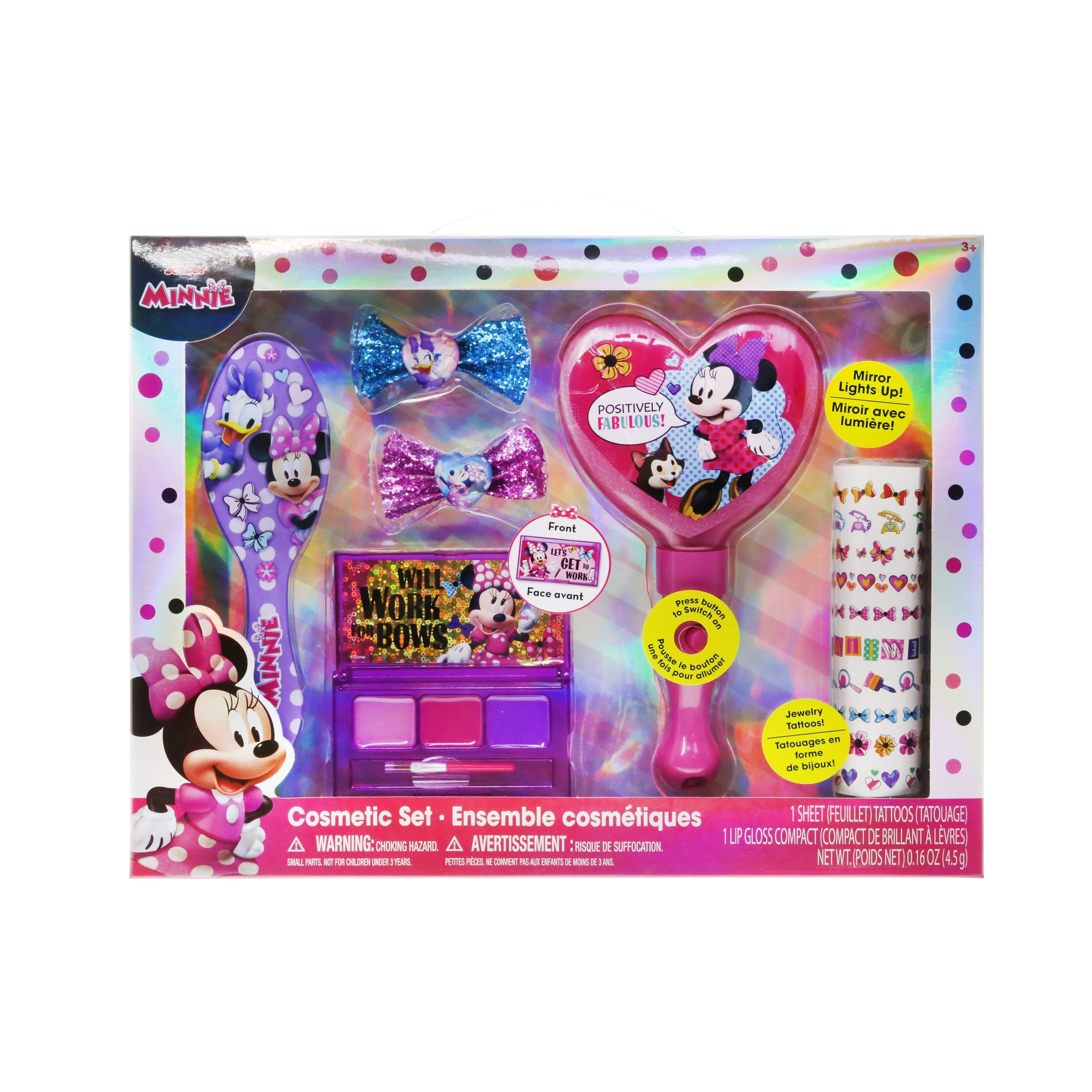 Disney Minnie Large Cosmetic Set (2-4 Years), Pink cotton...
