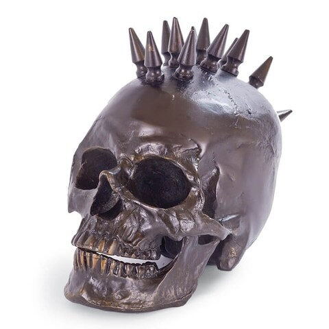 Spiked Skull (Antique Bronze)