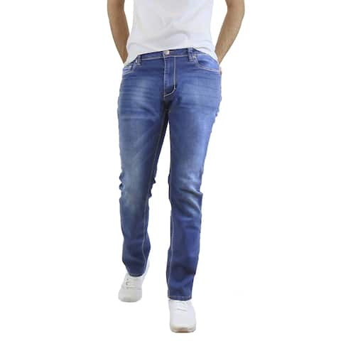 Native Jeans Men's Washed Slim Fit Stretched Jeans Straight Leg