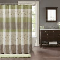 Madison Park Rachel Green Embroidered Shower Curtain