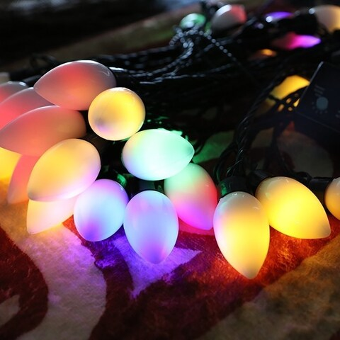 Christmas Festival ® Indoor & Outdoor 4-Mode 40-Bulb Plugged String Light - Multi-Color - 38 ft LONG