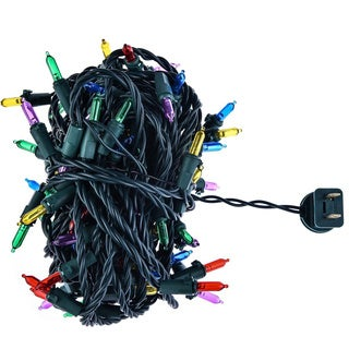 Christmas Festival ® 100 LEDs Plugged Mini String Light - Multi Color - 33 ft LONG