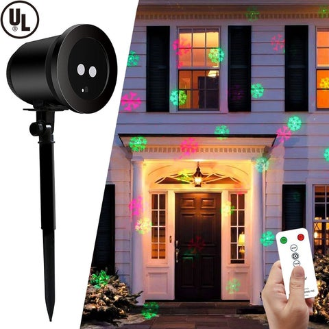 Christmas Festival ® LED Laser Shower Projector Light - Snowflake