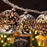 Christmas Festival ®  Indoor Seasonal Decor 10 LEDs Battery Operated String Light - Circle