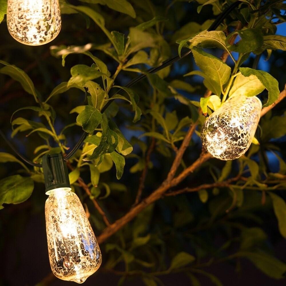 Christmas Festival ® Silvering ST40 Glass Bulb String Light, Blue pool