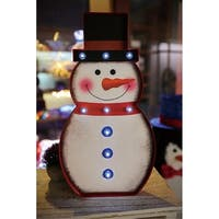 Christmas Festival ® 9 LEDs Marquee Light with Snowman Shape