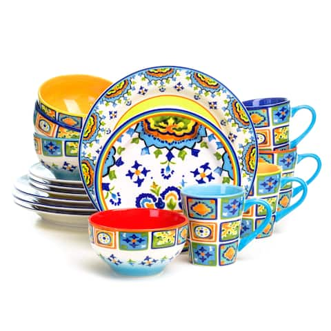 Euro Ceramica Mumbai 16-Piece Dinnerware Set (Service for 4)