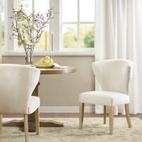 Madison Park Marina Cream Fabric Dining Chair (Set of 2)
