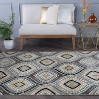 Alise Caprice Contemporary Abstract Area Rug - 6'7 x 9'6