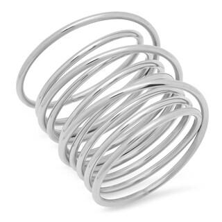Piatella Ladies Stainless Steel Swirl Wrap Ring in 2 Colors