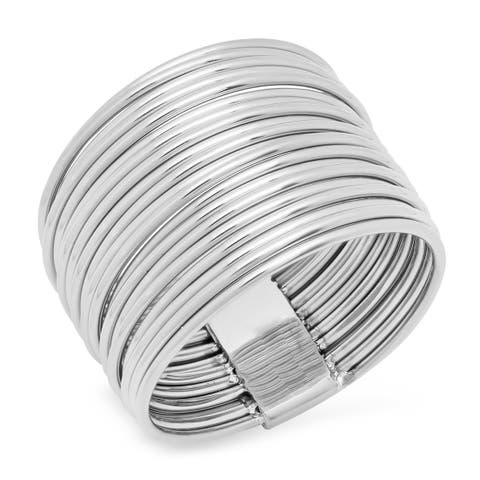 Piatella Ladies Stainless Steel Wrap Ring in 3 Colors
