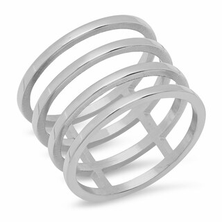 Piatella Ladies Stainless Steel Gladiator Cut Wrap Ring in 3 Colors (4 options available)