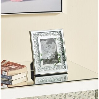 Sparkle 10 in. Contemporary Crystal Photo frame in Clear