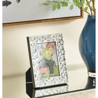Sparkle 9 in. Contemporary Crystal Photo frame in Clear