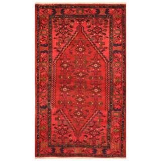 Handmade Herat Oriental Persian Hand-Knotted Tribal Hamadan Wool Rug (3'6 x 6'3)