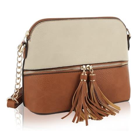 MKF Collection by Mia K. Alejandra Duo-Color Crossbody Bag