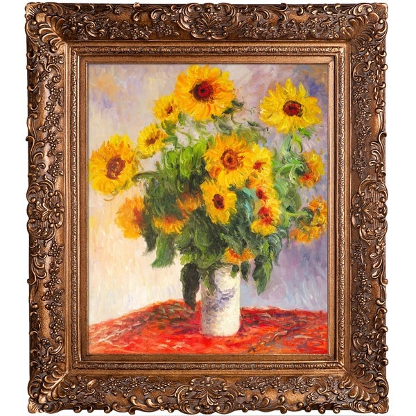 Claude Monet 'Sunflowers' Hand Painted Oil Reproduction