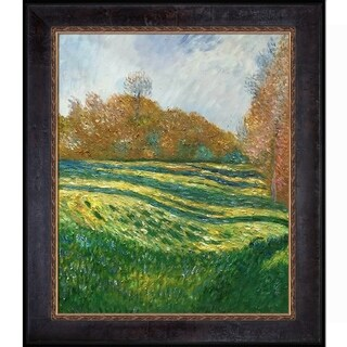 Claude Monet 'Meadow at Giverny, 1886' Hand Painted Oil Reproduction