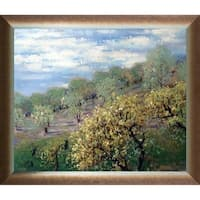 Claude Monet 'Baume in Blute' Hand Painted Oil Reproduction