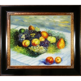 Claude Monet 'Pears and Grapes' Hand Painted Oil Reproduction