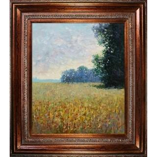 Claude Monet 'Champ d'avoine' (Oat Fields) Hand Painted Oil Reproduction